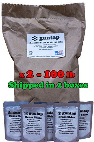 Stainless Steel Tumbling Media Pins - 0.047'' Diameter, 0.255'' Length (100 lb Pack) by guntap