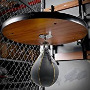 Wall-Mounted Speed Ball Platform, Training Hanging Punching Boxing Bag with Punch Bag Frame Include Swivel Bra