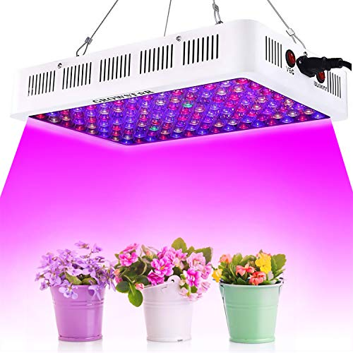 Cree COB LED Grow Light Growstar Reflector Series 600W LED Plant Light Full Spectrum Dual Chip Grow Lamp with Daisy Chain for Indoor Plants Veg and Flower