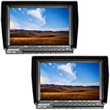 Neewer 2 Set NW-760 Field Monitors Ultra-thin 7 inches IPS Screen 1080P Full HD 1920x1200 Pixels HDMI with Focus Assist, Overexposure Prompting 16:10 Display Ratio for DSLR,Mirrorless Camera Camcorder
