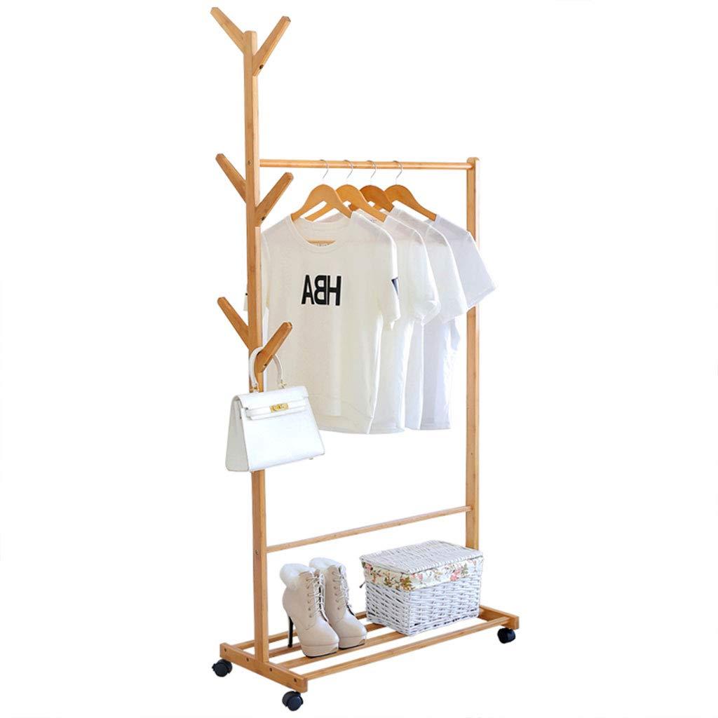 ZB 家庭用ハンガー床のベッドルームの床のコートラックシンプルなパンツのラック床の服のラックサイズのサイズはオプションです A+6+ (サイズ さいず : 100cm) B07JHB39BD  100cm