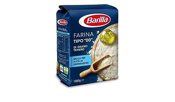 Barilla 6X Farina Tipo 00 Grano tenero Harina de Trigo Blando 1Kg: Amazon.es: Hogar