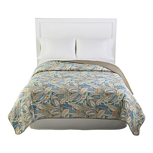 - Nantucket Home Tropical Ferns Microfiber Reversible Quilt, Full/Queen