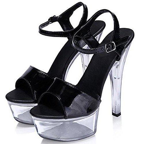 épais Fond de Chaussures Cristal Femmes Chaussures étanche Talons Forme Chaussures A Ceinture Boucle Plate Sandales Modèle Hauts LLP O4wzaqvv