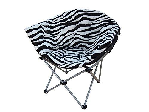 (Large Folding Moon Chair (2, Zebra))