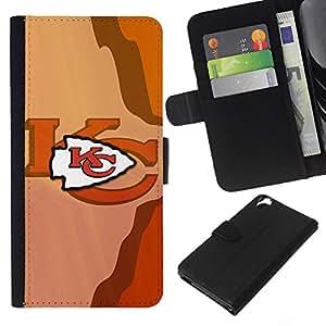 KC Equipo deportivo - la tarjeta de Crédito Slots PU Funda de cuero Monedero caso cubierta de piel Para HTC Desire 820
