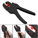 Self-adjusting wire Stripper,Automatic adjusting insulated Insulation Stripper - Multifunctional Wire & Cable Stripping Cutting Pliers - Wire Crimpers Strippers Cutters Range 0.08-4m㎡ by Drillpro