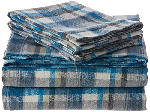 queen plaid flannel sheets - 9