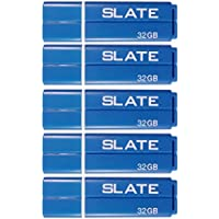 Patriot Memory Slate 32GB USB 3.0 Flash Drive, 5 Pack, Blue (PSF32GLSS3USB5P)