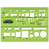 field template stage fixture 1 4in router templates amazon com