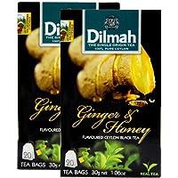 Dilmah 迪尔玛 蜂蜜生姜味红茶(调味茶) 30g*2(亚马逊自营商品, 由供应商配送)
