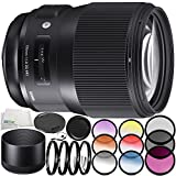 Sigma 135mm f/1.8 DG HSM Art Lens for Canon EF 10PC Accessory Bundle – Includes 3 Piece Filter Kit (UV + CPL + FLD) + 4PC Macro Filter Set (+1,+2,+4,+10) + MORE