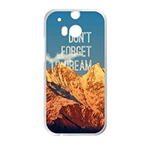 HTC One M8 Cell Phone Case White Don't Forget To Dream LV7956335