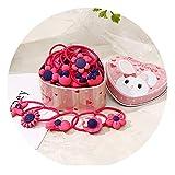 20pcs/Lot New Gift Box Packed Girls Cute Cartoon Elastic Hair Bands Headwear Scrunchies