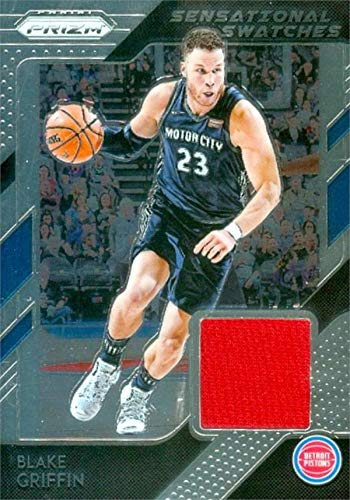 check out ce1e9 abbbb Amazon.com: Blake Griffin player worn jersey patch ...
