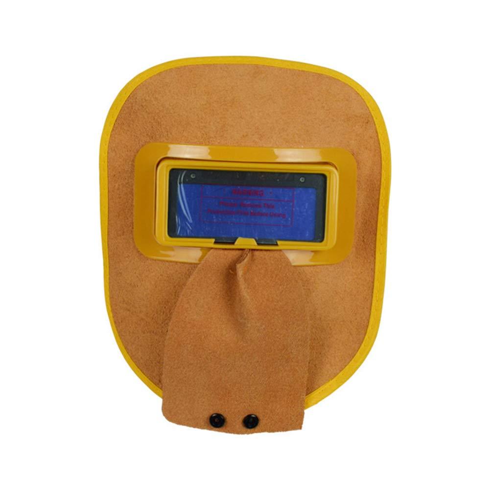 LAIABOR Masque de Soudage en Cuir photo/électrique Automatique De Vache Masque De Soudure Lunettes Masque De Protection Mont/é /À La T/ête De Professionnel