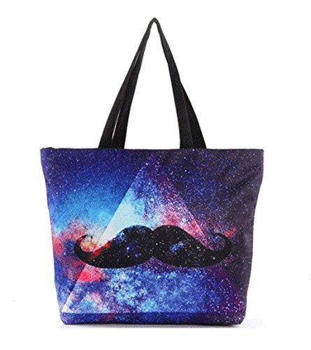 2017 sacchetto di spalla popolare caldo popolare triangolo nube Borse da stampa Star (blu)
