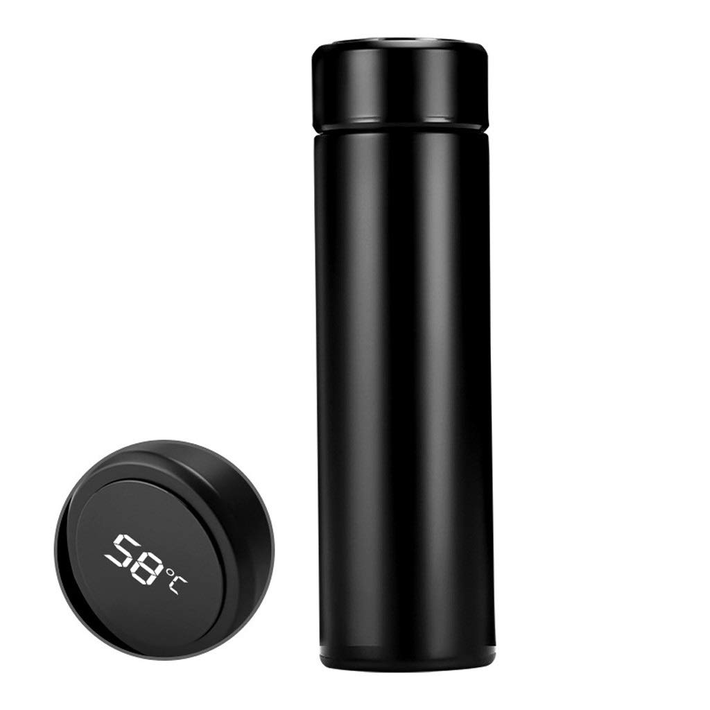 PIKAJIU Smart Vacuum Insulated Water Bottle with LED Temperature Display | 304 Stainless Steel | Perfect for Hot and Cold Drinks