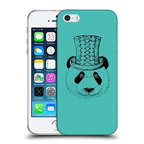 GoGoMobile Coque de Protection TPU Silicone Case pour // Q08350634 Chapeau panada Turquoise // Apple iPhone 5 5S 5G SE