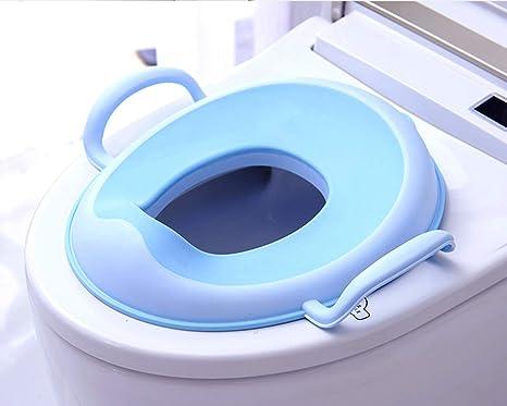 Zjqn toilette per bambini morbido per bambini e sgabello con gradino