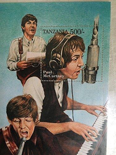 (THE BEATLES - JOHN LENNON TANZANIA COLLECTORS STAMP SOUVENIR SHEET)