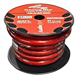 Nippon Power 0 Gauge 25 Foot Electrical Primary Wire Vehicle Primary Wire - Red