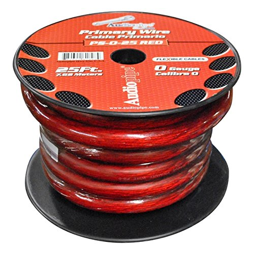 Nippon Power 0 Gauge 25 Foot Electrical Primary Wire Vehicle Primary Wire - Red by Nippon Power