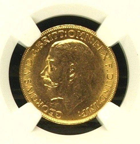 1911 CA Canada 1911 C Gold Coin Sovereign George V NGC MS coin MS 63 NGC