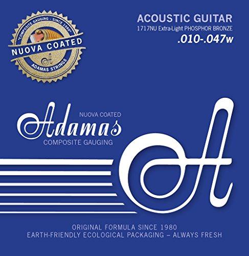 Adamas strings for steel string guitar Nuova Phosphor bronze coated Super-Light .011-.052