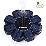 Upgraded Solar Fountain Pump, Ankway Highly Efficient 1.6W Floating Free Standing Outdoor Solar Water Pump with Different Water Sprays for Bird Bath, Pond, Tank and Garden Decoration