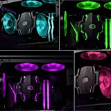 Cooler Master MAP-T6PN-218PC-R1 RGB CPU Air Cooler 6 CDC Heat Pipes Master Fan 120mm Intel/AMD AM4 Support