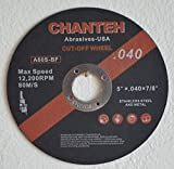 5'' x .040'' x 7/8'' CUT-OFF WHEELS for Stainless Steel &.Metal Cutting Disc ( 25 PACK )