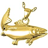 Memorial Gallery 3210gp Sport Fish 14K Gold/Sterling Silver Plating Cremation Pet Jewelry