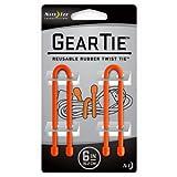 Nite Ize Original Gear Tie Reusable Rubber Twist Tie, 6-Inch, Bright Orange, 2-pack