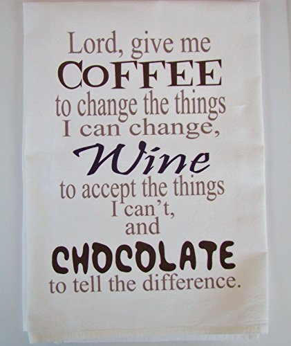 (Sweet Bohemian Life Coffee, Wine, Chocolate prayer tea towel handmade)