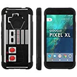 Google [Pixel XL] 5.5 inch LCD Phone Cover, NES Video Game Controller - Black Hexo Hybrid Armor Phone Case for Google [Pixel XL] 5.5 inch LCD