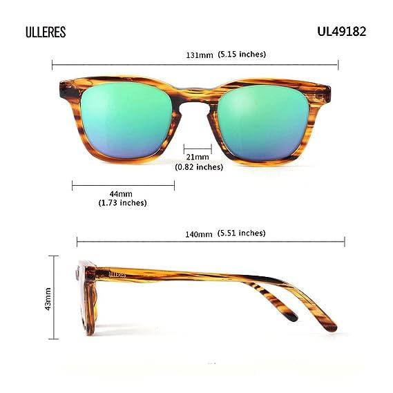 9683734e84219 Amazon.com  ULLERES Kids Sunglasses Retro 80s Polarized Sunglasses for Kids  Boys and Girls(Strip DEMI
