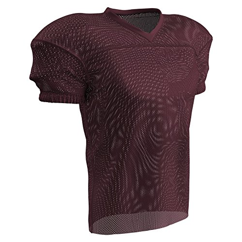 CHAMPRO Fire Football Jersey; Adult Maroon, Small