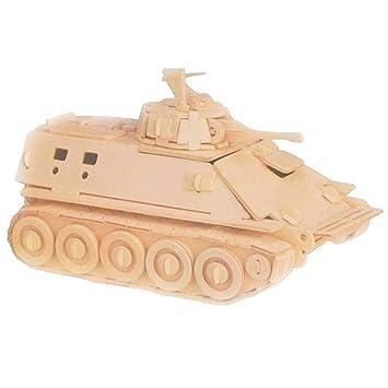 Woodcraft Maqueta de Madera de un Tanque Militar: Amazon.es ...