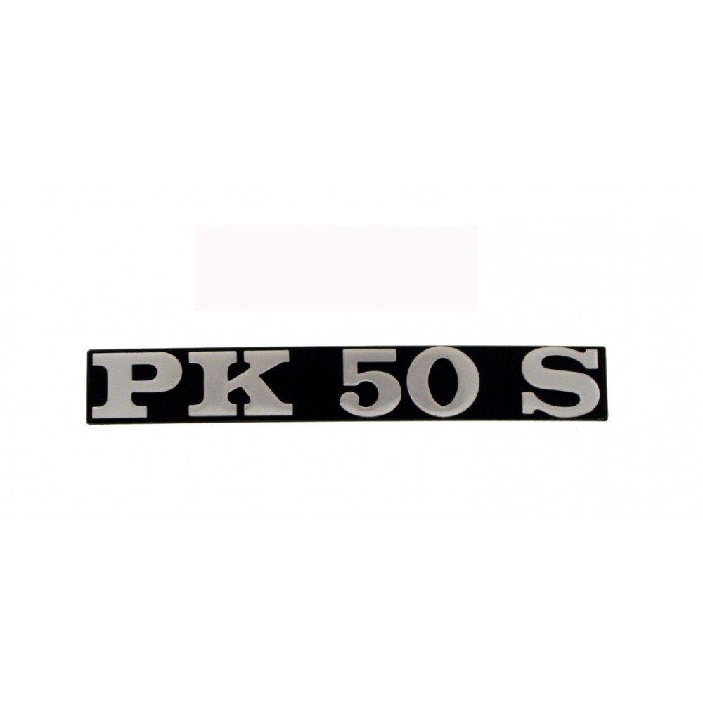 Emblema/SCRITTA 'PK 50 S' per Vespa PK 50/S lato aspirante –  Foro bstand 80 mm RMS