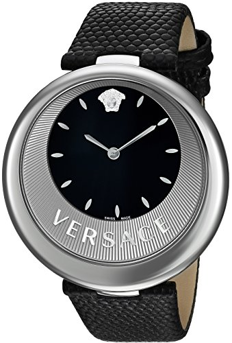Versace-Womens-PERPETUELLE-Swiss-Quartz-Stainless-Steel-and-Leather-Casual-Watch-ColorBlack-Model-VAQ010016