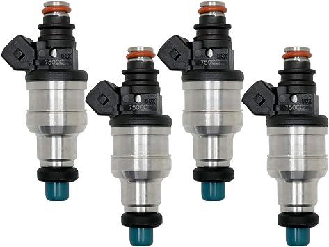 750CC Fuel Injectors for Civic Integra Acura all D B F H K  ZC VTEC w// clips