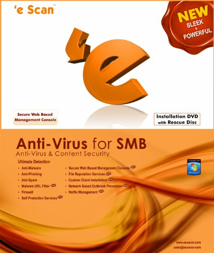 eScan Antivirus (AV) for SMB 10 users 2 years [Download] by Microworld technologies Inc