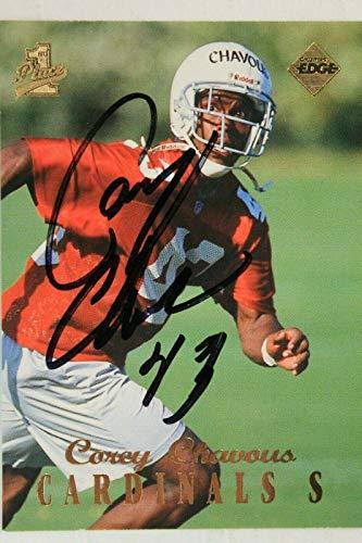 Card Autographed Collectors Edge (Corey Chaous Arizona Cardinals Vikings Autographed 1998 Collector's Edge Card 46)
