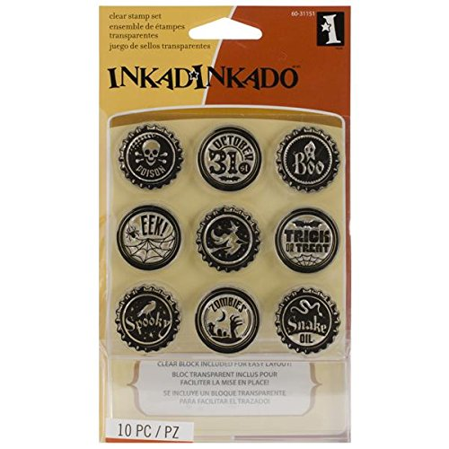 Inkadinkado Inchie Bundle Stamp Set, Gothic Toppers by Inkadinkado