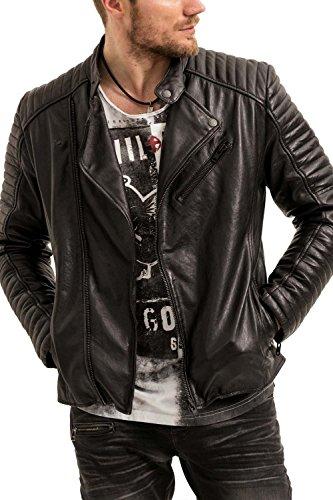 Pelle Urban Trueprodigy sportiv amp; Fit Moda Uomo Giubbotto Colore Vintage Classic Slim Di 2999 Abbigliamento Vestiti Nero Giacca 3773102 Black Casuale zqIqCrY