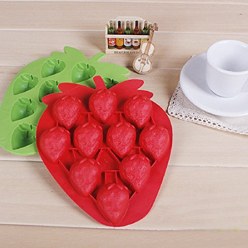 1 X Strawberry Mold Silicone Mold Cake Tools Cookie Cutter (Ice Bakeware)