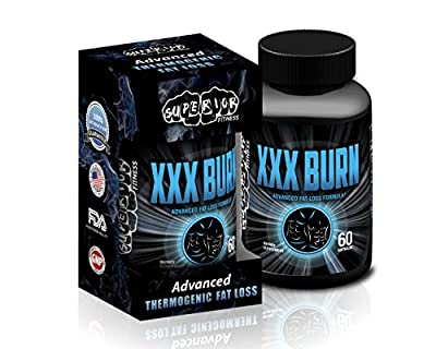 XXX Burn Fast-Acting Thermogenic Fat Burner / Weight Loss Supplement - Effective 9-Ingredient Multiple Pathway Fat Loss - Long-lasting 8-Week Supply (60 capsules)