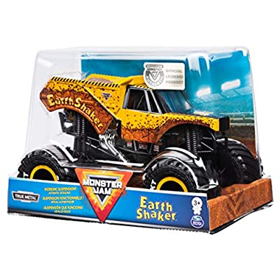 Monster Jam Official Earth Shaker Monster Truck Die-Cast Vehicle, 1:24 Scale: Toys & Games