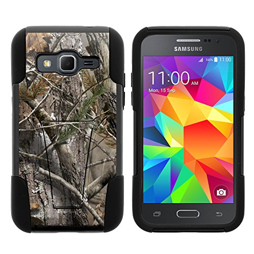 Samsung Core Prime Case, Full Body Fusion STRIKE Impact Kickstand Case with Exclusive Illustrations for Samsung Galaxy Core Prime G360, Samsung Galaxy Prevail LTE (Verizon, Sprint, Boost Mobile) from MINITURTLE | Includes Clear Screen Protector and Stylus Pen - Tree Bark Hunter Camouflage (Boost Mobile Galaxy Core compare prices)